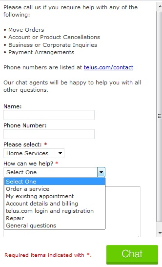 how to cancel telus home services