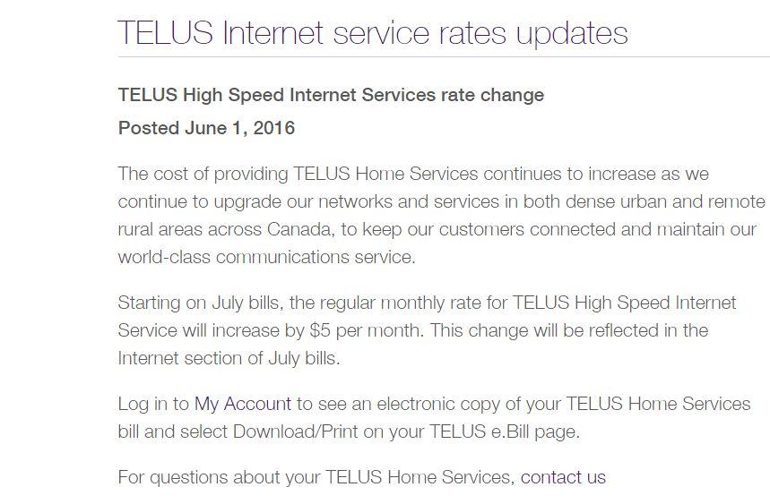telus internet rates going up.JPG