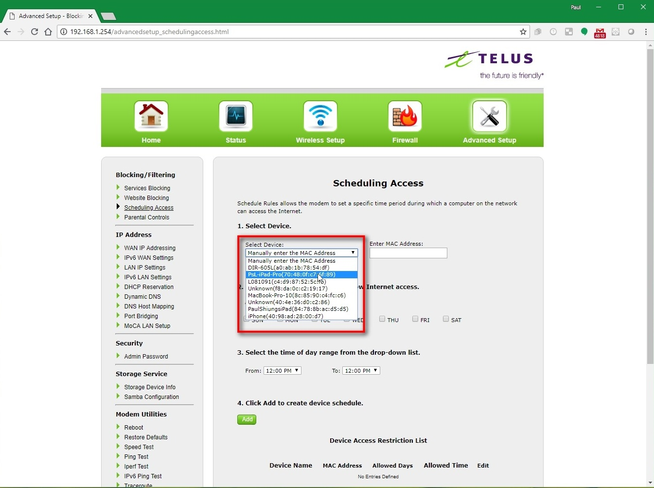 Parental Control - Setting up Access & Restrictions on Home