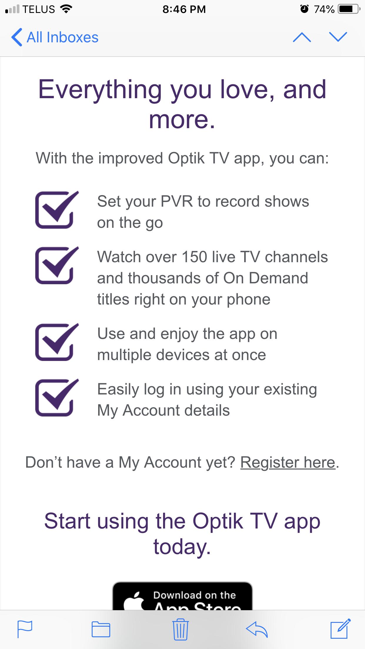Bring back the optik smart remote app - TELUS Neighbourhood