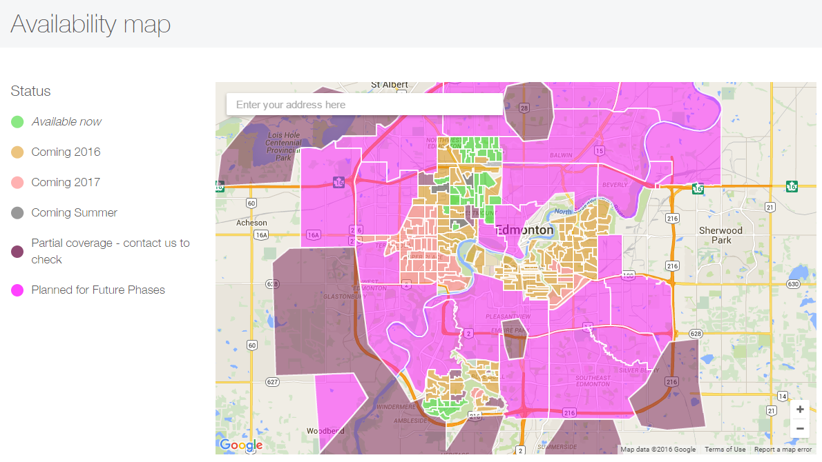How do I get the most up to date info as to when Pure Fibre will be Dsl Coverage Map on